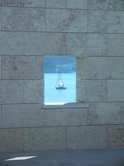 framed (indrarado) Tags: summer sun brick water wall river boat sailing sommer bricks sunny sail tejo tajo sailer sailingboat bloue flickrchallengegroup flickrchallengewinner friendlychallenges