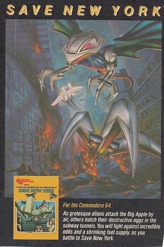 1983 Commodore 64 Game 'Save New York'