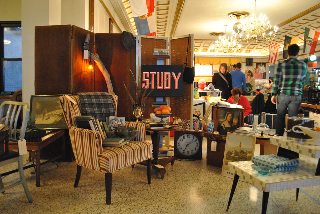 STUDY's booth at the first Vintage Bazaar at the DANK Haus