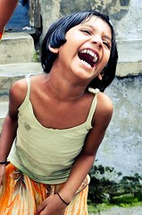 """""""photo lady is too funny"""" (lavalleyphotography) Tags: poverty roof india beautiful children jumping"""