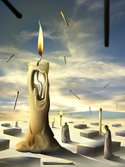Sinaleiros (Marcel Caram) Tags: photomanipulation marcel artwork candle surrealism digitalart magritte dig