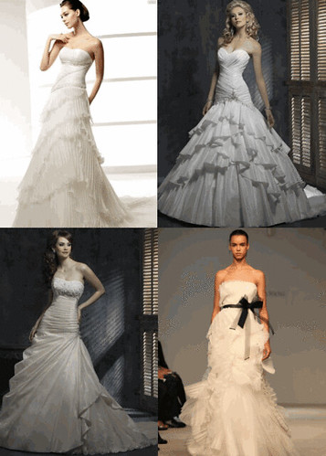 Trend Pretty Pleats for bridal dresses 2010 the perfect