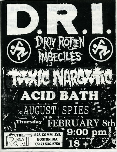 D.R.I. / Toxic Narcotic - The Rat - Flier