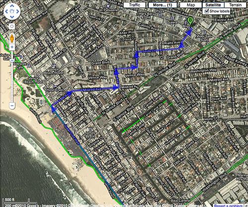 Google Map Bicycling