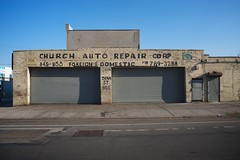 Church Auto Repair Corp. (Alexander Rabb) Tags: nyc building brooklyn storefront