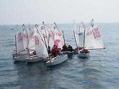 los navegantes antes de empezar la competición
