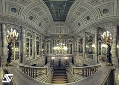 Conseil Constitutionnel (A.G. Photographe) Tags: panorama paris france photoshop french nikon stair raw pano royal fisheye ag palais nikkor 16mm palaisroyal français escalier hdr parisian anto parisienne conseil xiii constitutionnel parisien autopano photomatix conseilconstitutionnel d700 antoxiii hdr5raw agphotographe