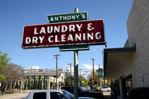 anthony's laundry & dry cleaning neon sign