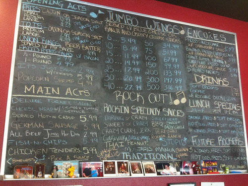 Rockin' Wings menu