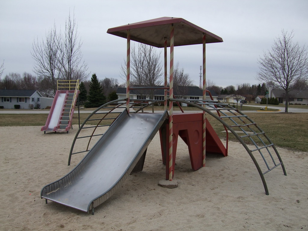 Nennig Park, Chilton, WI: Miracle playground equipment