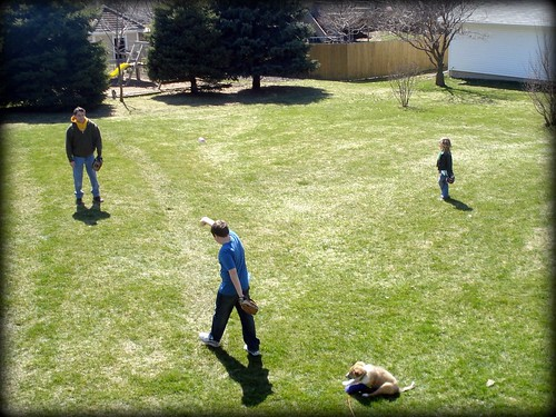 Spring softball practice