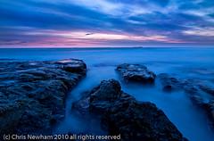 Bamburgh Predawn (milo42) Tags: longexposure beach sunrise landscape rocks waves bamburgh farne predawn farneislands wwwchrisnewhamphotographycouk nopsbamburgh2009