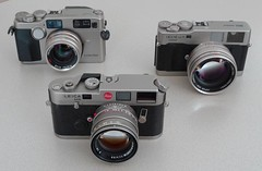 rangefinder cousins (try...error) Tags: camera leica 2 6 film analog zeiss 35mm g great 45 m contax porn carl g2 konica titan 50 limited edition summilux m6 collector rf planar hexar cameraporn sammler rff