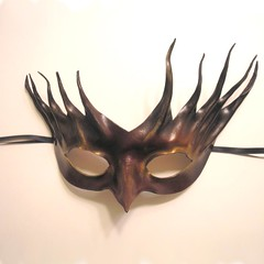 Little Burgundy and Bronze Leather Mask by Teonova (teonova) Tags: new carnival cats black sexy rabbit art halloween leather animal animals cat dark costume wings orleans wolf punk mask bat wing caroline horns steam masks fantasy fox carnivale devil venetian handcrafted masquerade gras pan mardigras burlesque mardi satyr sculpted pagan anthropomorphic steampunk horned molded leathermask guyer leathermasks teonova