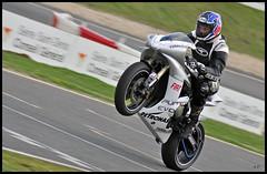 Wheeling (Alexis.D) Tags: bike race racing course motorbike moto motorcycle yamaha r1 carole circuit pilot wheeling motard piste pilote combinaison pistard