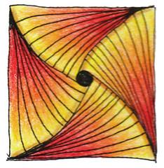 Inspired by Zentangle 0013 (Amaryllis Creations) Tags: penink zentangle