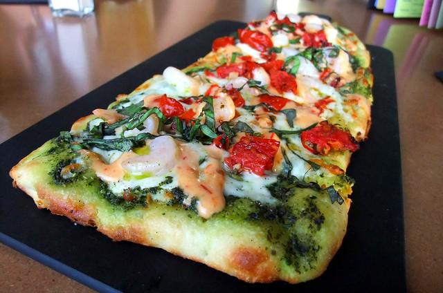 Pesto Shrimp Flat Bread