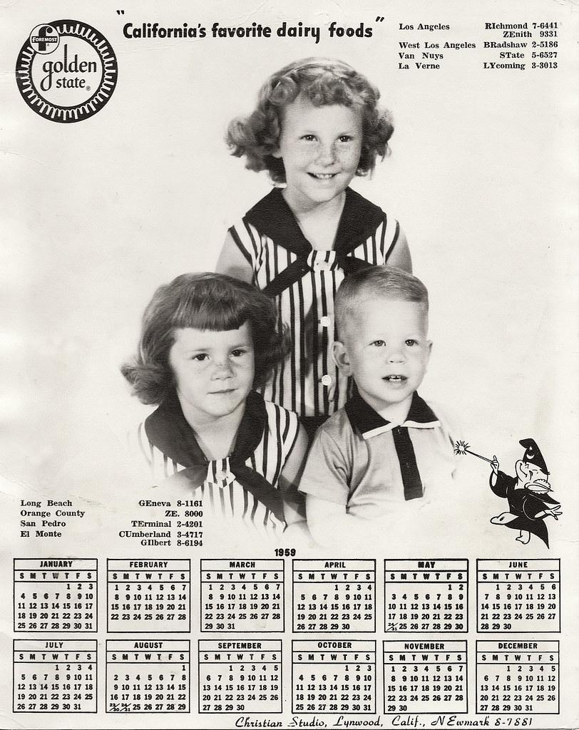 1959-Kids Foremost Dairy Calendar