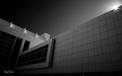 Rubik II ([Adam Baker]) Tags: bw ny monochrome architecture canon dark grid sunburst ithaca cornelluniversity gnd weillhall 24105l adambaker 5dmarkii