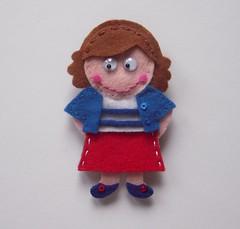 Cristina La marinera de agua dulce (Lidia!!) Tags: blanco azul rojo doll crafts felt feltro handicrafts manualidades marinero fieltro mueeca