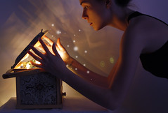 do you dream? (Melania Brescia) Tags: light girl 50mm natural box magic illumination dreams melania brescia