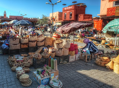 Spices Square  Plaza de las Especias, Marrakech, HDR (marcp_dmoz) Tags: plaza photoshop square nikon basket map morocco maroc marrakech souk species marrakesh nikkor 1735mmf28d marruecos tone hdr marokko korb cesta marrakesch especias cesto flechten photomatix tonemapped tonemapping zoko canasto d700 cafedesepices placeauxepices