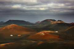 Timanfaya: the truth (blinkingidiot) Tags: park industry landscape colours earth lanzarote tourist national caldera volcanoes lunar timanfaya