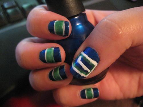 Canucks manicure 1