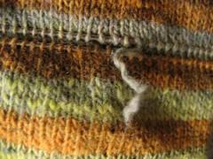 Yarn snipped