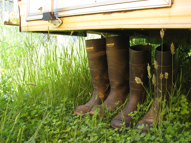 Boots Under the RV