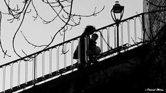 Stairs - Brest (patrick_milan) Tags: noiretblanc blackandwhite noir blanc monochrome nb bw black white street rue people personne gens streetview féminin femal femme woman women girl fille belle beautiful candide