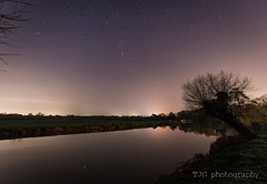 Orion reflection, River Avon, Saltford (T J G photography) Tags: constellation nightsky orion riveravon saltford widefield reflection