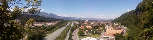 panoramic view part of Feldkirch, Austria