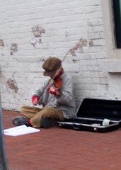 Dickensian (Slip Mahoney) Tags: new york people newyorkcity manhattan famous ticktock mrg dickens violinist