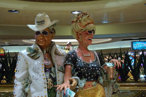 Buck and Winnie statue at Harrah's Las Vegas, Nevada casino.