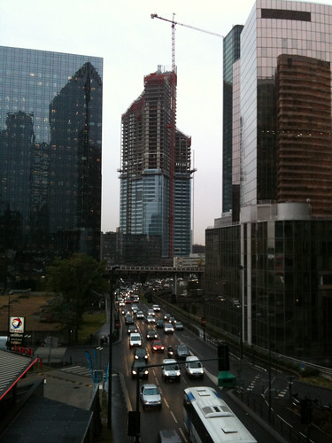 Trafic and construction la defense paris