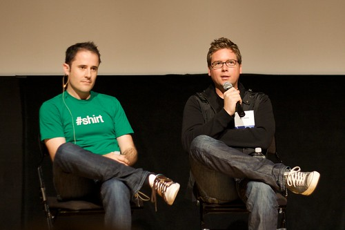 Twitter founders, Biz Stone (left), and Evan Williams (right)