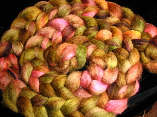 Faded Rose BFL Wool Hand Dyed Spinning Fiber