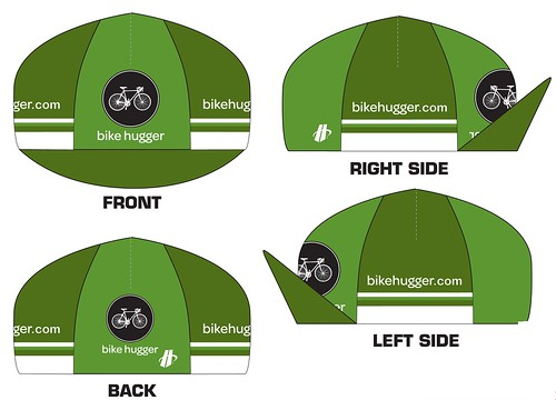 Bike Hugger Cap: Front Back Left Right