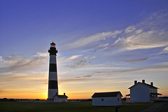 Bodie Sunrise (SKIPSHEPARD) Tags: lighthouse clouds sunrise nc scenic scene carolina outerbanks obx bodieisland outerbanksnorthcarolina