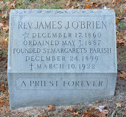 Calvary Catholic Cemetery, in Saint Louis, Missouri, USA - grave of Reverend James J. O'Brien