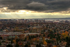 Victoria B.C Skyline from Mount Tolmie (HDR series) (Brandon Godfrey) Tags: pictures city autumn trees urban usa canada fall water colors skyline clouds dark photography sussex day cityscape colours mt bc view cloudy photos pics britishcolumbia sears sony unitedstatesofamerica victoria canadian mount vancouverisland sofa astoria northamerica alpha dslr washingtonstate westcoast thefalls hdr highdynamicrange thewave raysoflight vast christchurchcathedral viewtowers olympicmountains tolmie mounttolmie a300 landscpe thechelsea straitofjuandefuca thebelvedere thebaycentre tonemapped tonemapping robertshouse hillsidemall themanhatten orchardhouse saveonfoodsmemorialcentre cibcbuilding theastoria chateauvictoria pacificmonarch sonya300 hillsidecentre northparkmanor regenttowers suttonplacewest dowlerplace taraplace thejackdavisbuilding