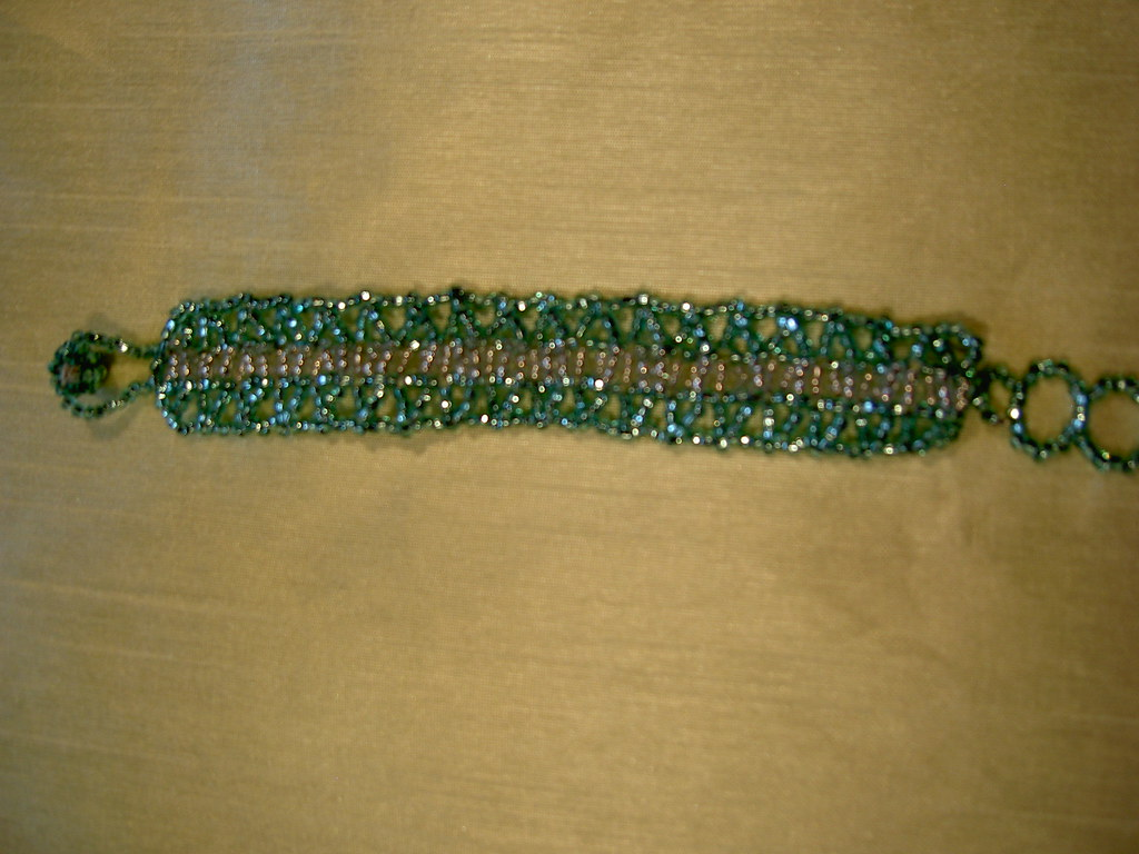 Sea Green and Silver Braclet