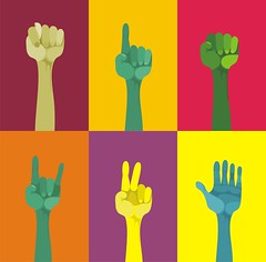 pop art hands (kucherenko.anastasiia) Tags: hello old blue red two art up sign yellow illustration paper point person one idea cool hands election peace arm image symbol many grunge fingers crowd group protest vivid meeting pop help human volunteering thumb volunteer gesture vote index vector voting raised upwards agree agreement fico