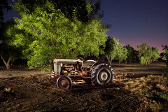 SUMMER TRACTOR (Eric Curry) Tags: ranch nightphotography lightpainting art industry beautiful digital america truck work canon vintage photography amazing farm rustic guys automotive pride retro multipleexposure american western paintingwithlight restored americana trucks growing unusual tractors trickphotography planting orchards exposures multipleexposures timeexposures oldtractor oldfarmequipment abandonedtractors ericcurry tractorsatnight