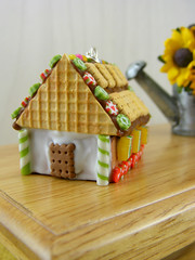 Waffle Roof (Shay Aaron) Tags: christmas xmas food tree scale dessert miniature candy crystal handmade aaron fake mini jewelry polymerclay fimo biscuit ornament tiny faux shay icing candycane 12th 112 frosting geekery jewel petit twelfth hanselandgretel chocolatechipscookie christmasspirit brothergrimm shayaaron wearablefood cutspretzelmarmaladesprinklescitruscharmpendantnecklacehouse