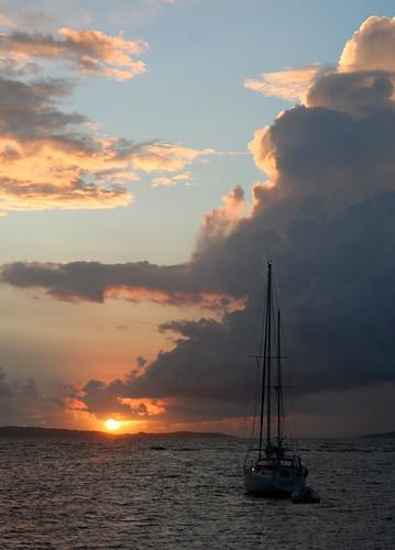 sailboat sunrise caribbean