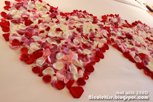 rose petal hearts