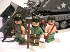 USMC Infantry (PhiMa') Tags: lego wwii ww2 marines worldwar2 unitedstatesmarinecorps pacifictheatre shermantank brickarms dozerblade