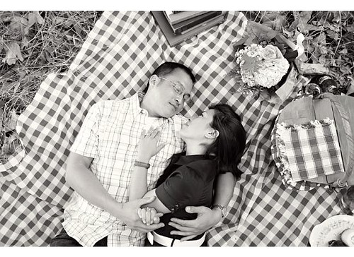 blk white picnic